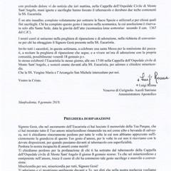 lettera di Mons. Renna