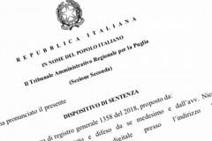 """De Mucci (FI Bat): """"Il Tar Puglia ha rigettato il ricorso circa l'annullamento delle elezioni provinciali"""""""