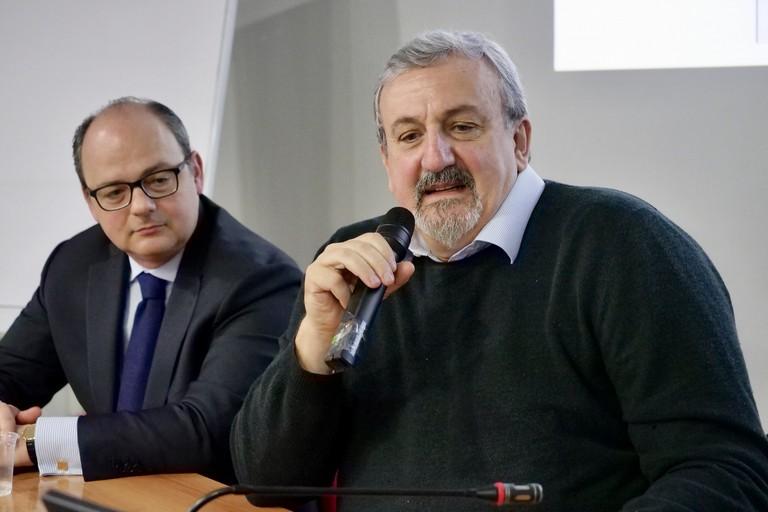 Alessandro Delle Donne e Michele Emiliano