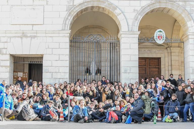 Cattedrale Andria - Giovani della Giornata mondiale della Gioventù