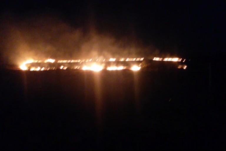 Incendio a Minervino Murge