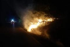 Sedato principio d'incendio sulla Minervino-Spinazzola