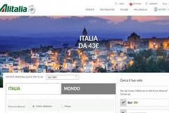 Minervino da cartolina, è sullo sfondo del portale di Alitalia