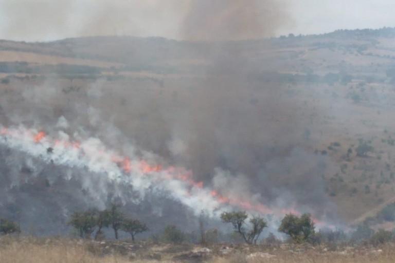 Incendio fra Minervino e Andria